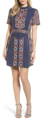 Kas Luton Embroidered A-Line Dress