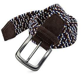 Saks Fifth Avenue Men's COLLECTION Braided Leather Belt