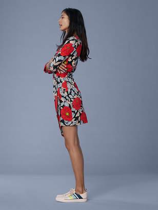 Diane von Furstenberg Julian Silk Jersey Mini Wrap Dress