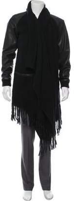 Skingraft Leather-Trimmed Fringe Jacket