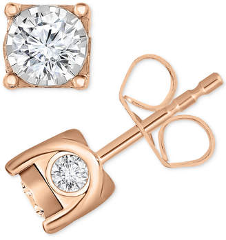 TruMiracle Diamond Stud Earrings (3/8 ct. t.w.) in 14k Gold, White Gold or Rose Gold