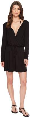 Kenneth Cole Frenchie Solids Long Sleeve Tunic Dress Cover-Up Women's Swimwear