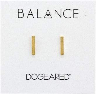 "Dogeared Balance"" Flat Bar Stud Earrings"