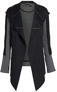 Blanc Noir Women's Draped Front Jacket