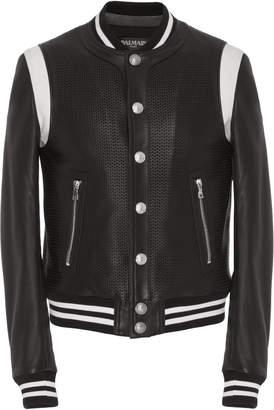 Teddy Leather Varsity Jacket