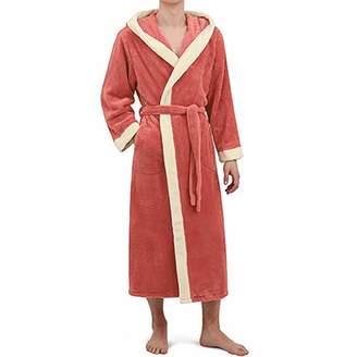 682563d0ed Letdown Sexy Lingerie Letdown Women s Winter Warm Hooded Lengthened Soft  Long Sleeve Plush Shawl Bathrobe Slee