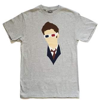 Doctor Who David Tennant Vector Head 3D Glasses Mens T-Shirt