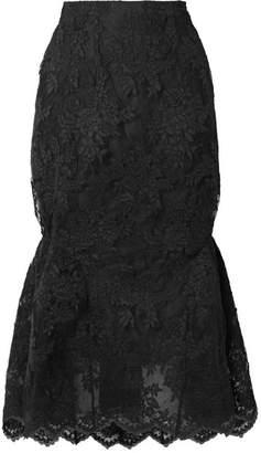 Simone Rocha Corded Lace Midi Skirt - Black