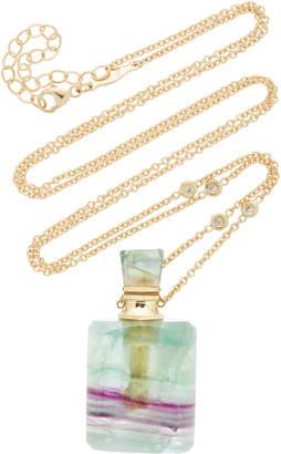 Jacquie Aiche Medium Rectangle Fluorite Potion Bottle Necklace