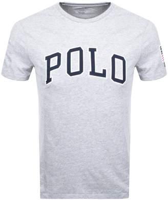 Ralph Lauren Crew Neck Custom Fit T Shirt Grey
