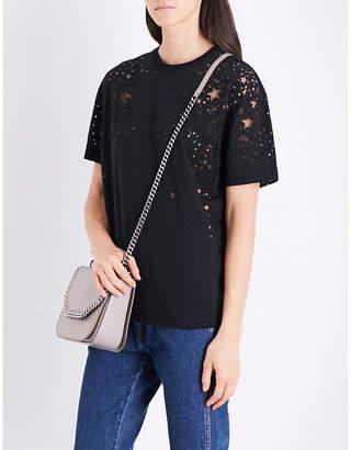 Stella McCartney Star cutout cotton-jersey T-shirt