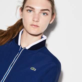 Lacoste Women's SPORT Water-Resistant Zip Tennis Bomber Jacket