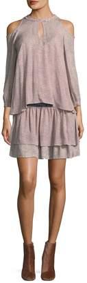Derek Lam 10 Crosby Women's Cold Shoulder 2-in-1 Silk Dress