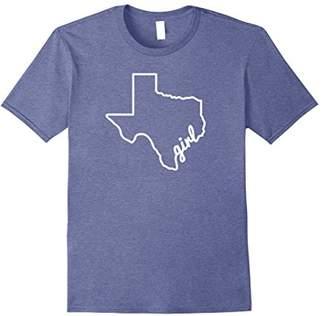 Texas Girl Texas Outline Shirt Design