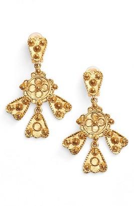 Women's Oscar De La Renta Charm Clip Earrings $195 thestylecure.com