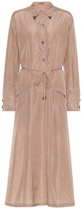 Bottega Veneta Embellished silk shirt dress