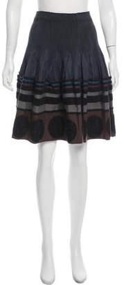 Issey Miyake Knee-Length Embroidered Skirt