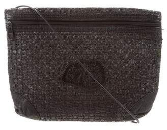 Carlos Falchi Woven Straw Crossbody Bag de23bf4d194a7