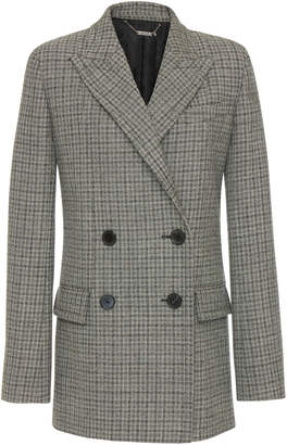 Givenchy Double-Breasted Checked Wool Blazer