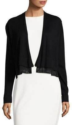 Tommy Hilfiger Open-Front Contrast Cardigan