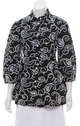 Alexis Embroidered Peplum Top w/ Tags