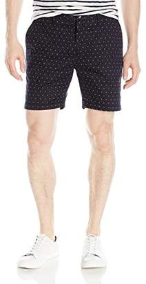Scotch & Soda Men's Formal Chino Short in Cotton/Elastane Quality with All-Over