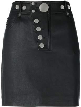 Alexander Wang multi snap mini skirt