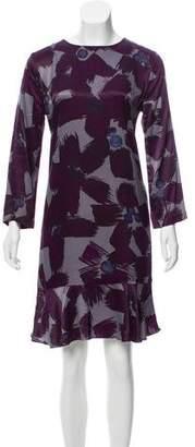 0039 Italy Printed Knee-Length Dress w/ Tags