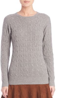 Polo Ralph Lauren Cable-Knit Cashmere Sweater $398 thestylecure.com