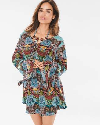 Kenneth Cole Bali Dreams Bell-Sleeve Swim Cover-Up Tunic
