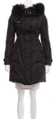 Moncler Phalangere Fur-Trimmed Coat