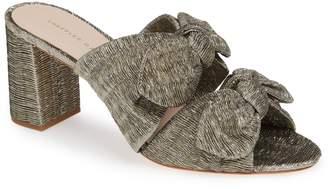 Loeffler Randall Adele Metallic Bow Slide Sandal