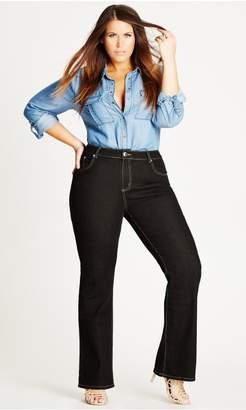 City Chic Citychic Bootleg Black Short CC Jean