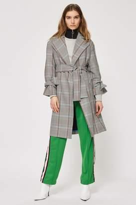 Topshop Petite Lightweight Check Coat