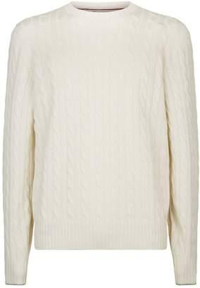 White Cable Knit Men Shopstyle