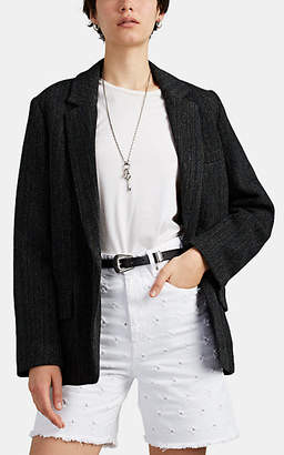 Etoile Isabel Marant Women's Charley Herringbone Wool Blazer - Black