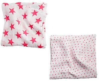 aden + anais Pink Star Swaddle Blankets (Set of 2) $32 thestylecure.com