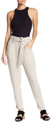 Free People Emerson Striped Belted Utility Pants