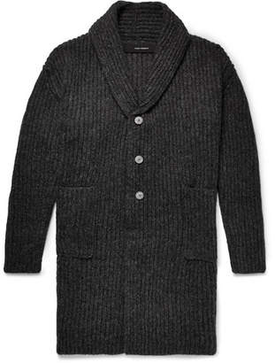 Isabel Benenato Shawl-Collar Alpaca-Blend Cardigan