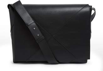 Bottega Veneta Large Leather Messenger Bag