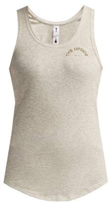 The Upside T Bar Ribbed Cotton Tank Top - Womens - Grey