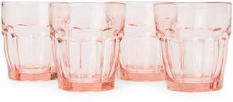 Bormioli Peach 4-Piece Rock Bar Lounge Rocks Glass Set