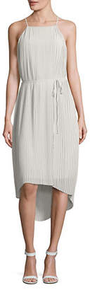 Sam Edelman Pleated Tie Waist Dress