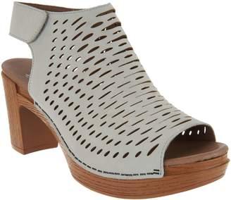 Dansko Perforated Leather Heeled Sandals - Danae