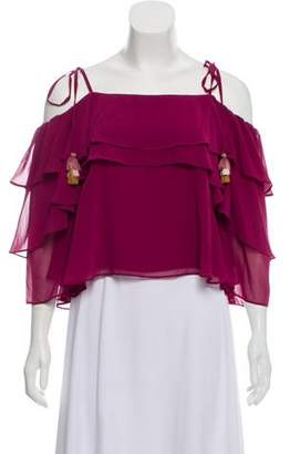 Rebecca Minkoff Ruffled Cold-Shoulder Top