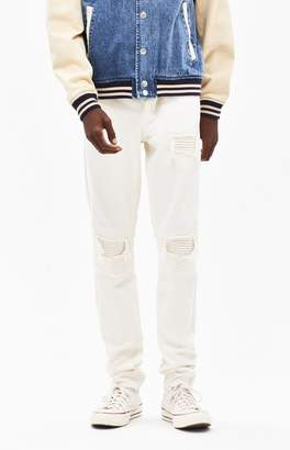 PacSun Stacked Skinny Stitch & Repair Khaki Jeans