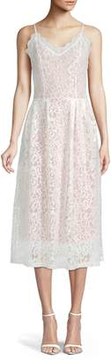 ABS by Allen Schwartz Collection Scalloped Lace Midi Dress