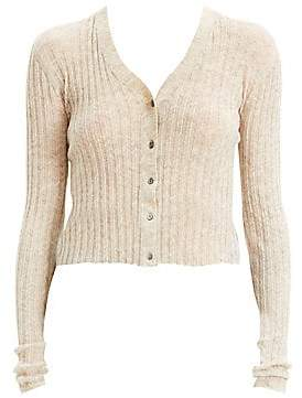 Theory Women's Cropped Alpaca-Blend Cardigan