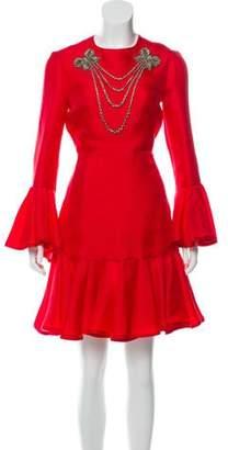 cef5a5cd588 Gucci Silk Crepe Dresses - ShopStyle