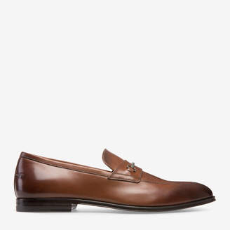 Bally Werton Brown, Men's plain calf leather loafer in coconut